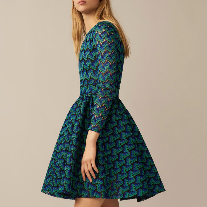 Bonded lace dress : Dresses color Multico