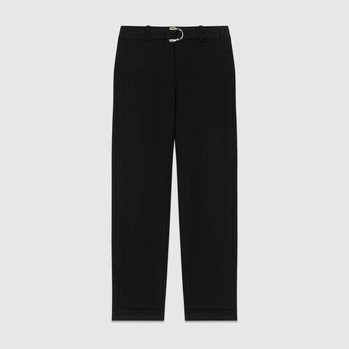 Straight cut trousers : Black color Black 210