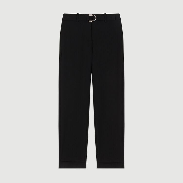 Straight cut trousers : New Collection color Black 210