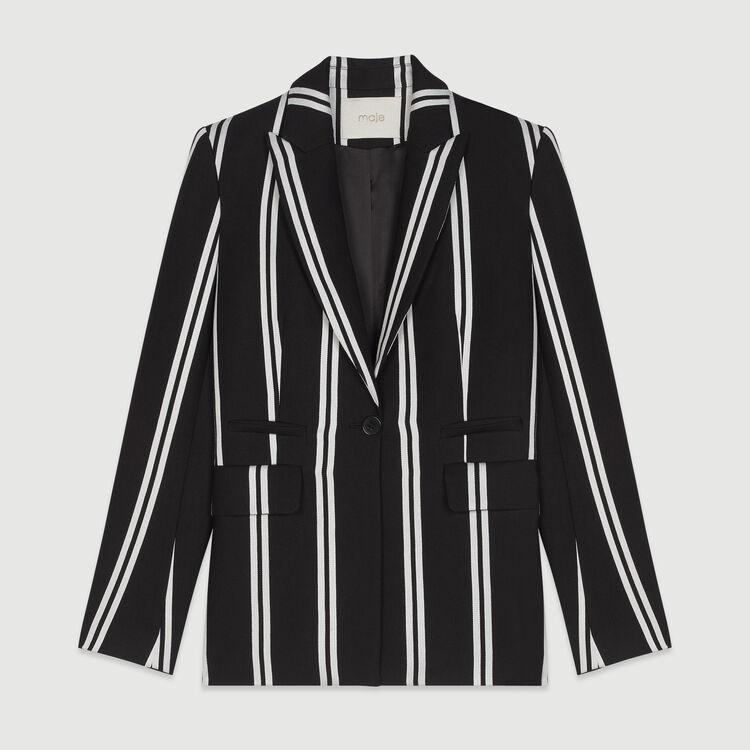 Striped tailor jacket : Coats & Jackets color Stripe