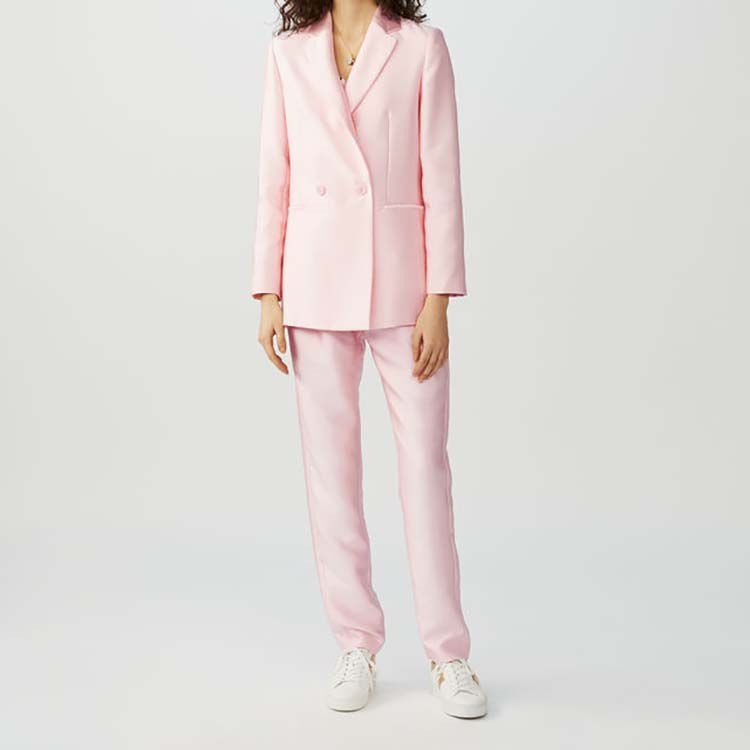 Satin blazer : Coats & Jackets color Pink