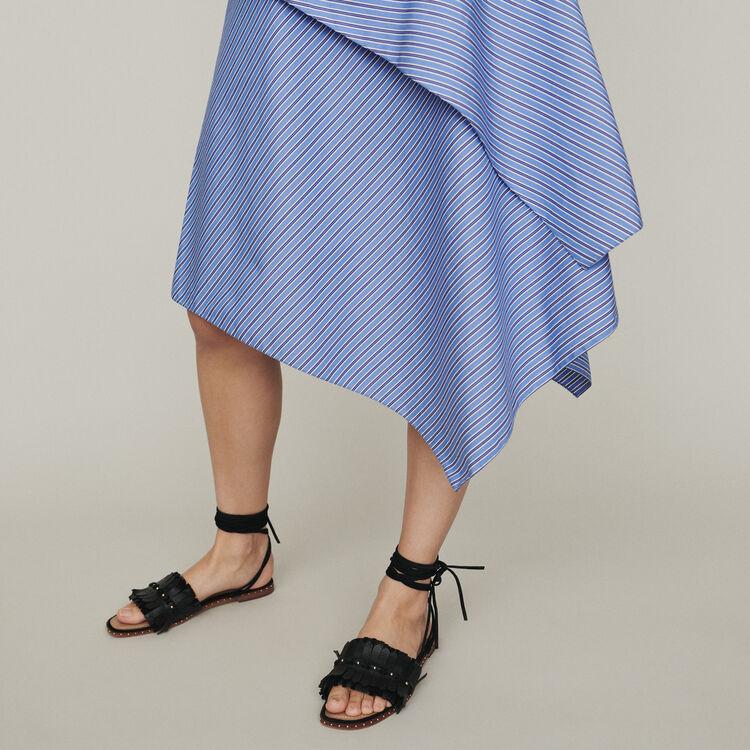 34ed229dc JIM Striped cotton skirt - Skirts & Shorts - Maje.com