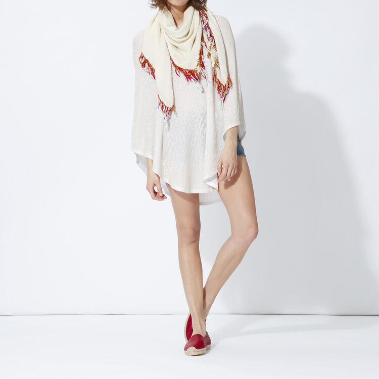 Lurex knit poncho : Copy of Sale color