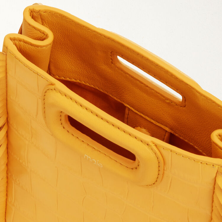 Mini M bag with fringe : Bags color Yellow