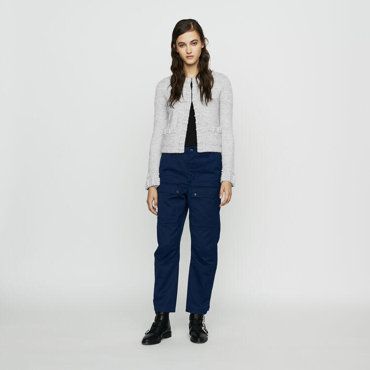 Worker-style wide pants : Pants & Jeans color Blue