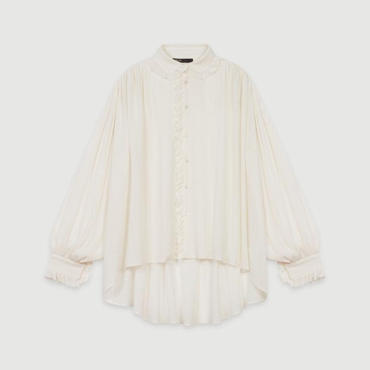 Ruffled shirt : Tops & T-Shirts color Ecru