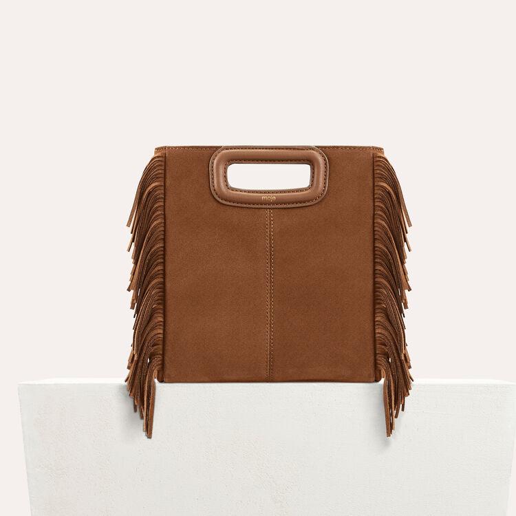 M bag with suede fringes : M Bags color Black 210