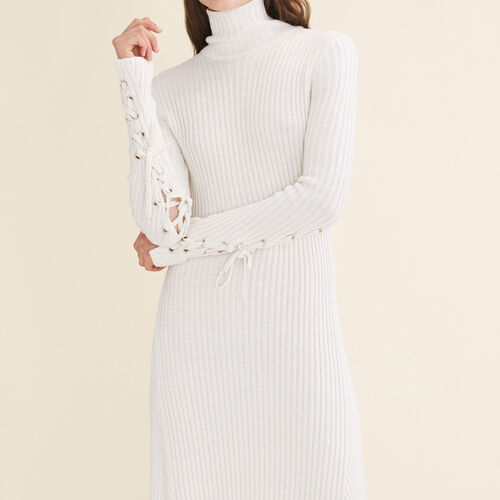 Long tube-knit dress - Dresses - MAJE