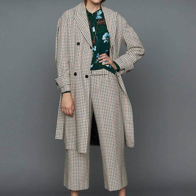 Straight plaid coat : Coats & Jackets color CARREAUX