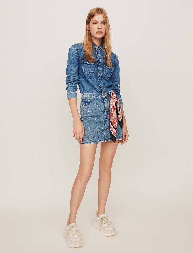Faded jean dress - Dresses - MAJE