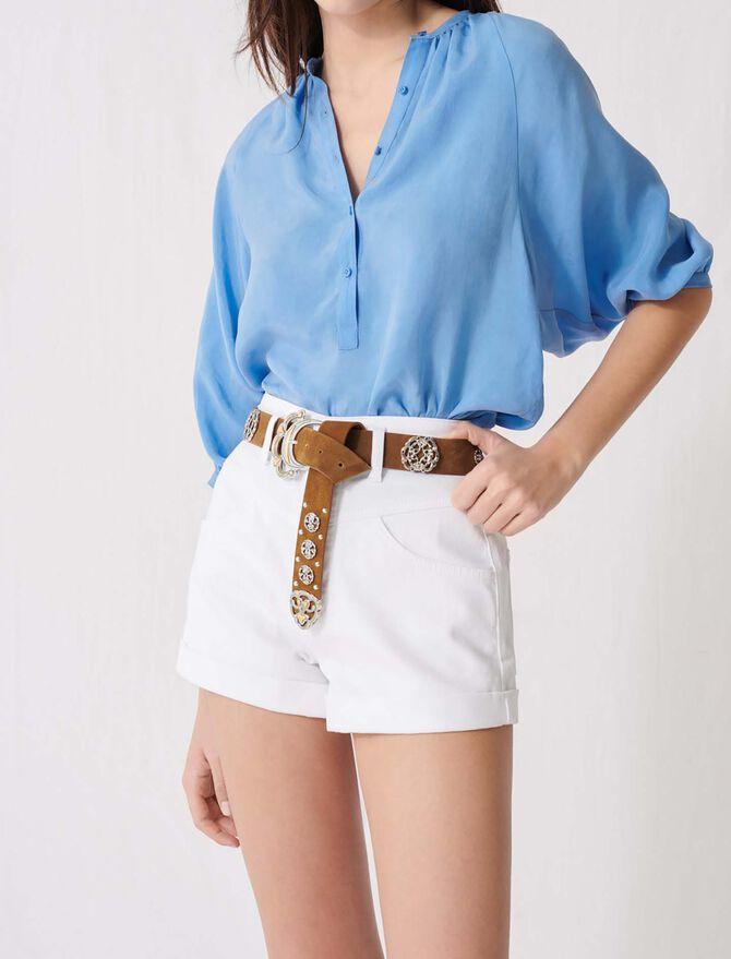 Berber-style leather belt - Belts - MAJE