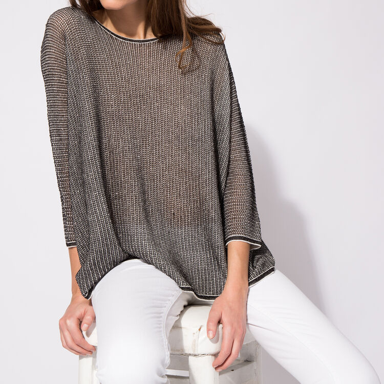 Oversize printed cotton sweater : Copy of Sale color