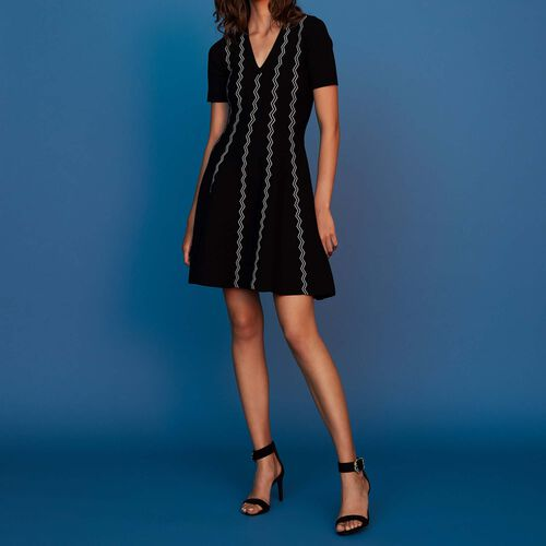 Jacquard dress : Dresses color Black 210
