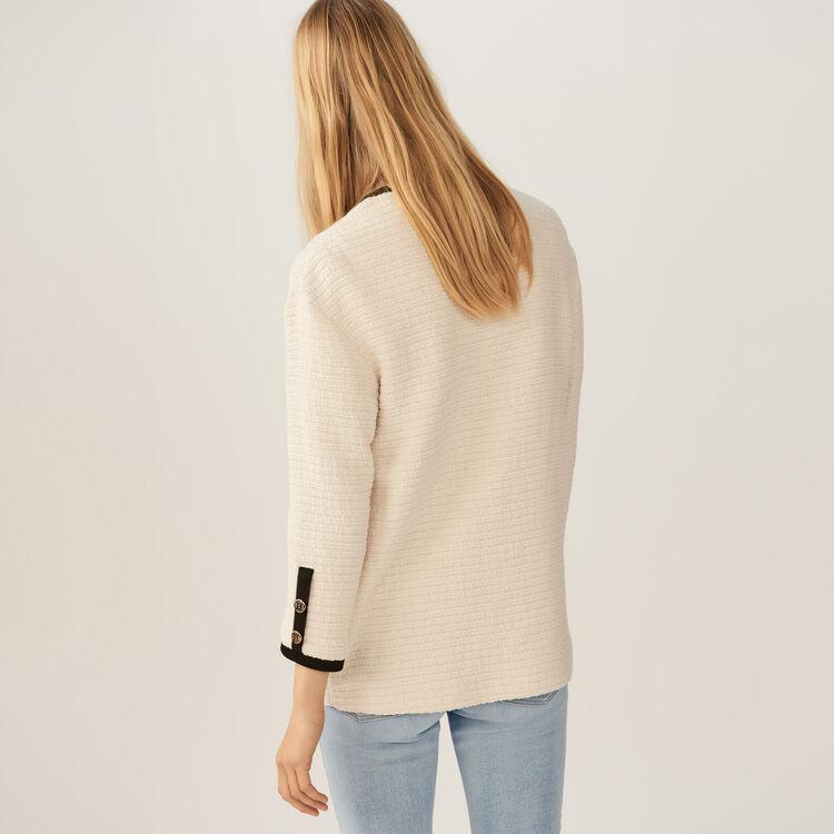 Oversized tweed jacket : Coats & Jackets color Ecru