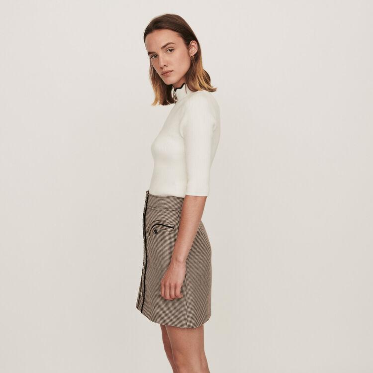 Plaid pencil skirt : Skirts & Shorts color Camel
