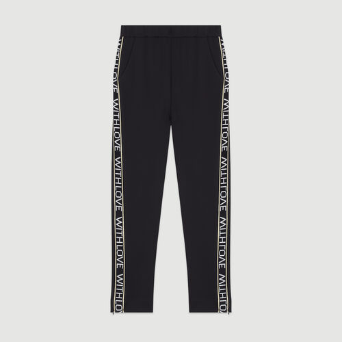 Jogging pants with elastic waist : Pants & Jeans color Black 210