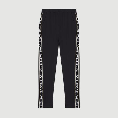 Jogging pants with elastic waist : Pants & Jeans color Black 210