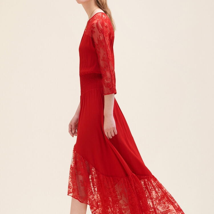 Long lace dress : null color