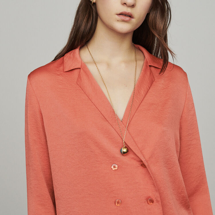 Blazer-style blouse : Tops & T-Shirts color Coral