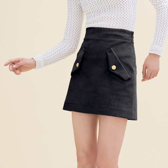Short velvet skirt : Skirts & Shorts color Pink