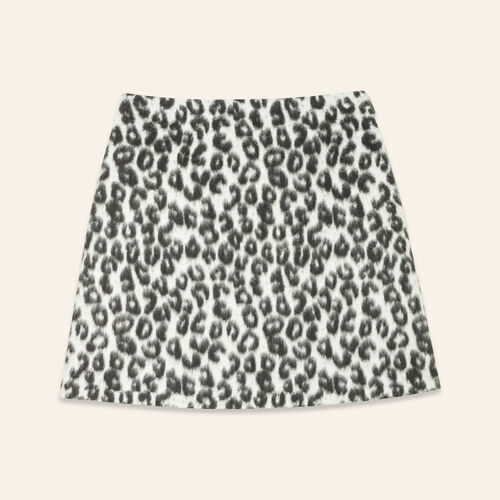 Leopard-print A-line skirt : Skirts & Shorts color Print