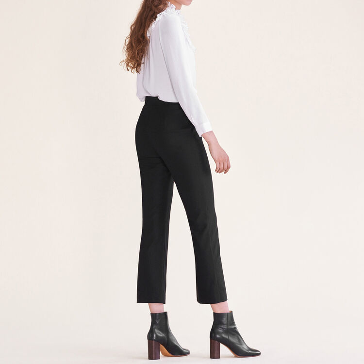 Formal wool trousers : Pants & Jeans color Black 210
