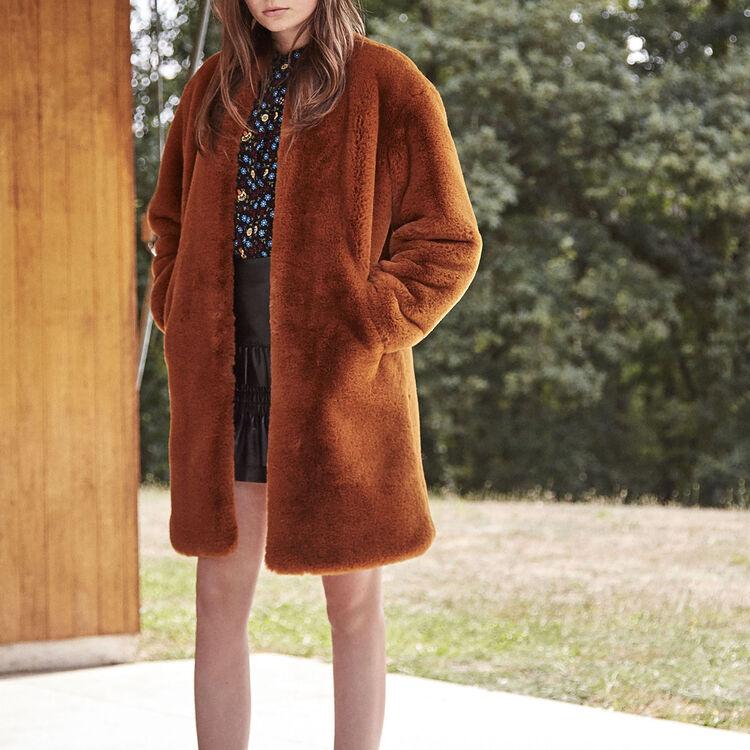 GEMILA Faux fur coat - Coats & Jackets - Maje.com