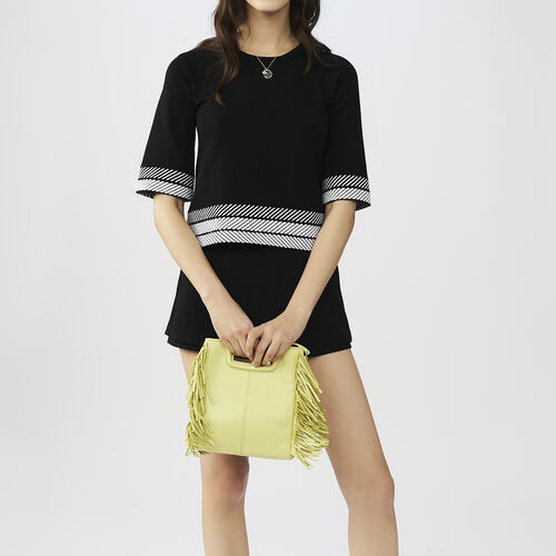 Oversized short-sleeved sweater : Sweaters color Black 210