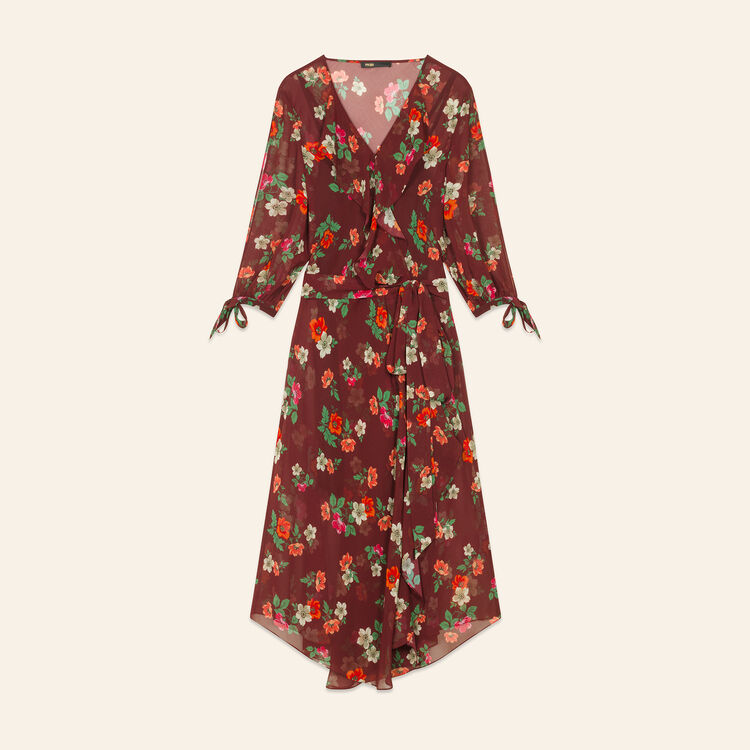 Printed chiffon dress : Dresses color Print