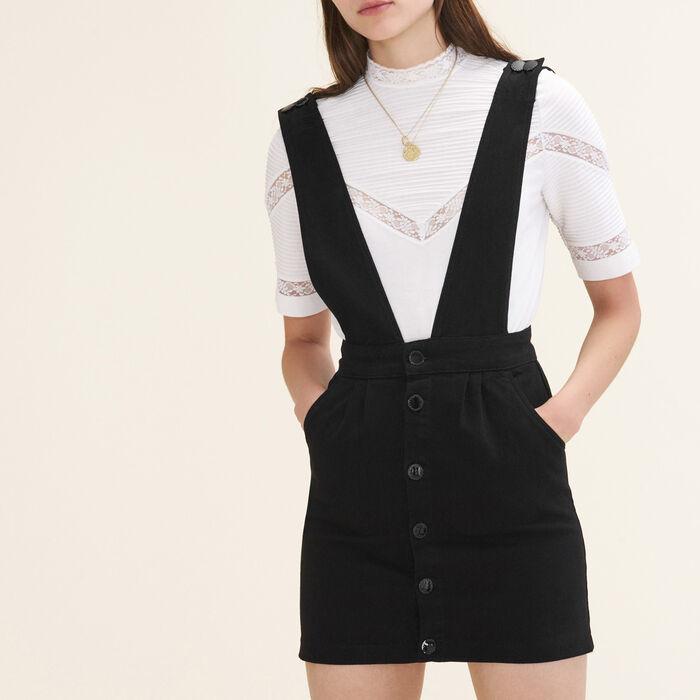 Denim strappy dress : null color
