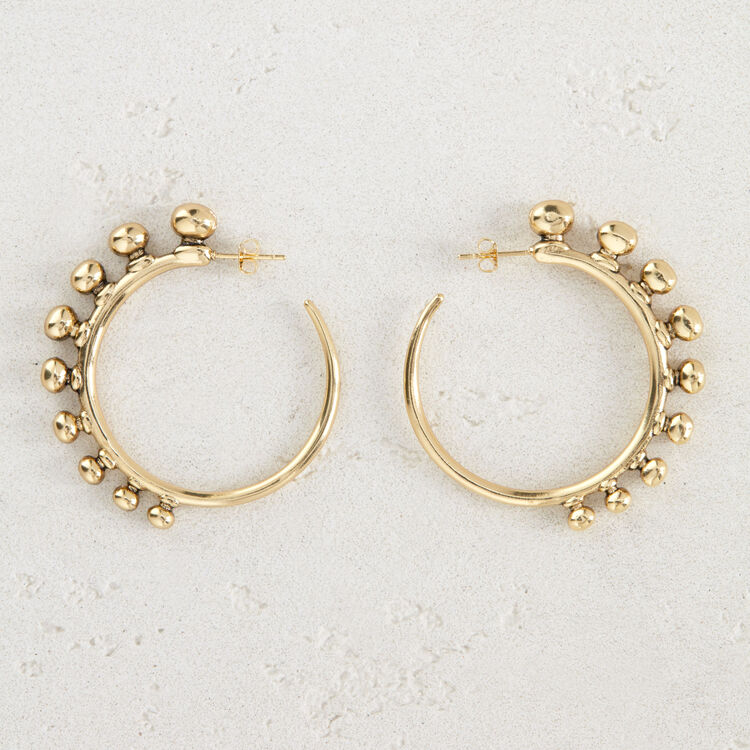 "Hoop earrings ""Arty"" : Jewelry color GOLD"