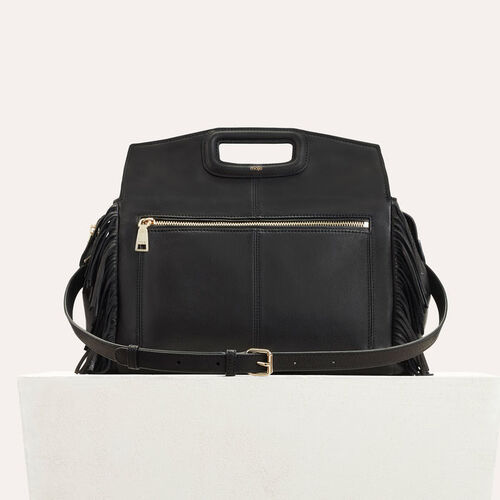 MWALK bag with leather fringes : New Collection color Black 210