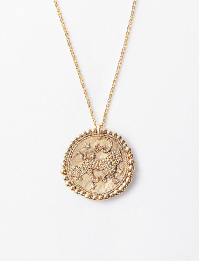 Lion zodiac sign necklace -  - MAJE