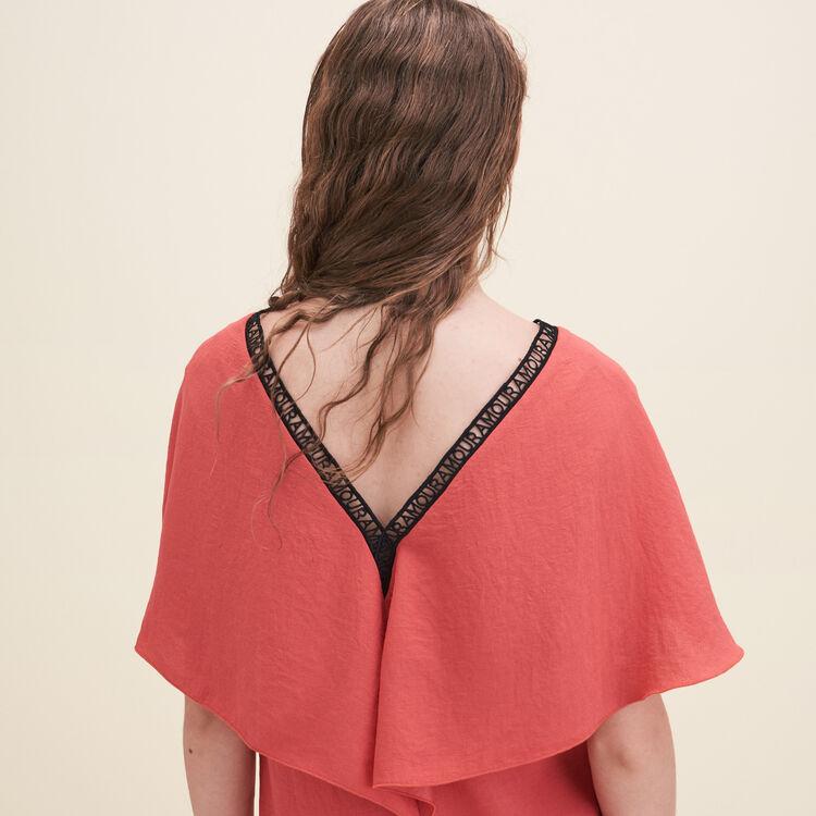 Crêpe straight-cut dress : Dresses color Orange