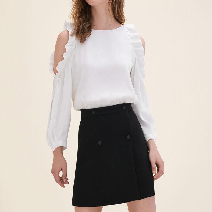 Flowing top open at the shoulders : Tops & Shirts color Ecru