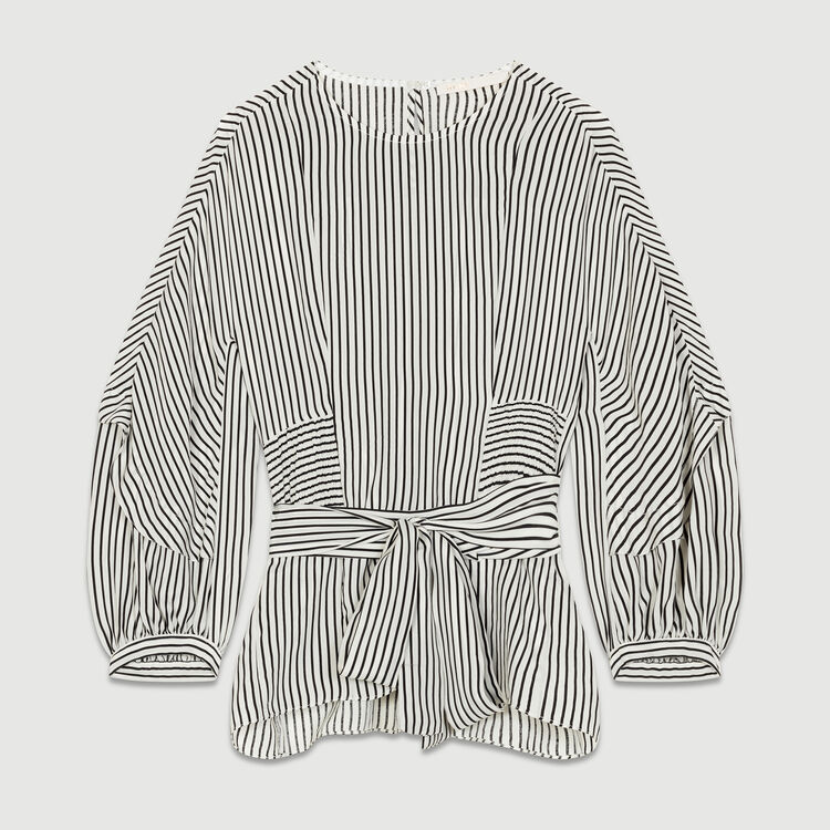 Smocked striped top : Tops & T-Shirts color Stripe