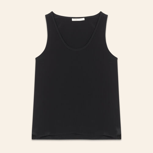 Silk tank top : Tops & Shirts color Black 210