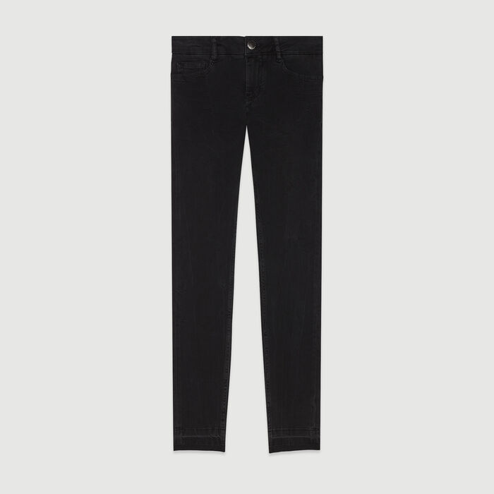 Skinny jeans in stretch cotton : Pants & Jeans color Anthracite