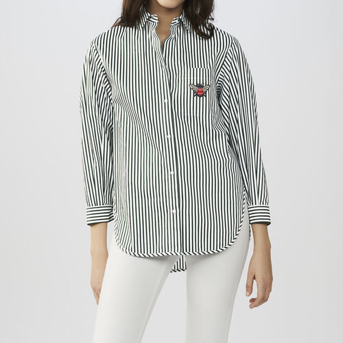 Striped cotton shirt : Tops & T-Shirts color Stripe