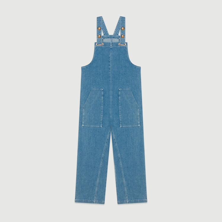 Denim jumpsuit : Jumpsuits & Rompers color Denim