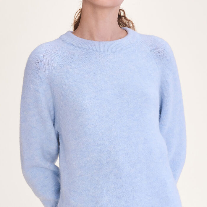 Loose fluffy jumper : Sweaters color Blue Sky