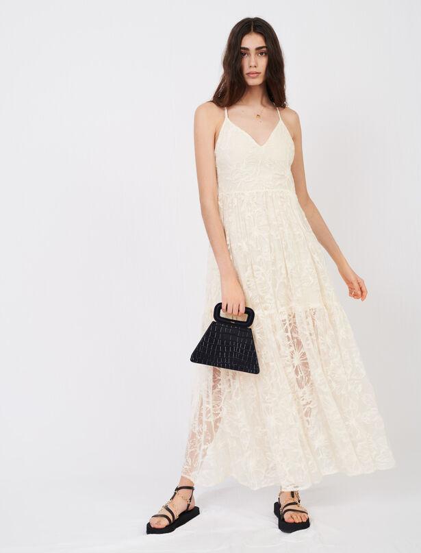 Maje Strappy lace dress