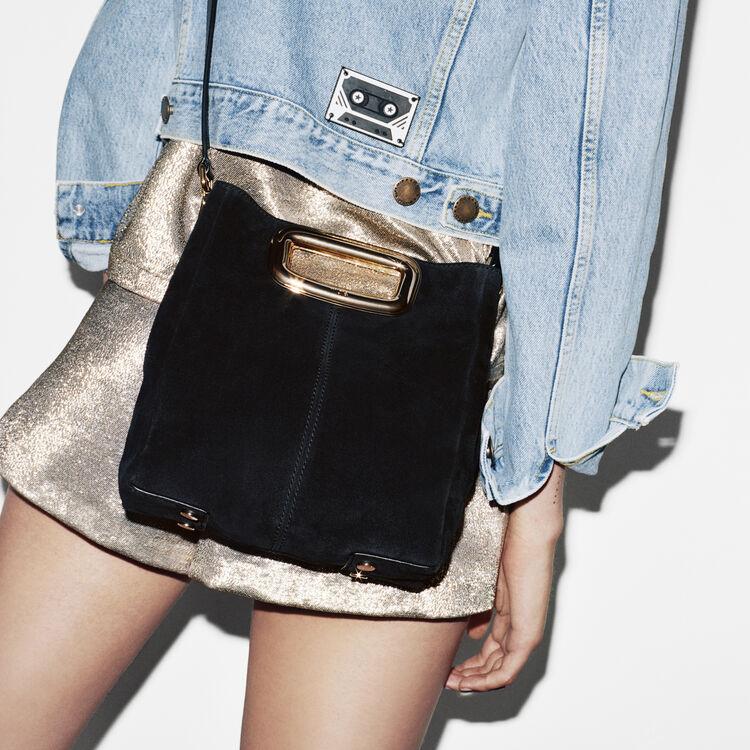 M Skin bag in suede : M Skin color Black 210