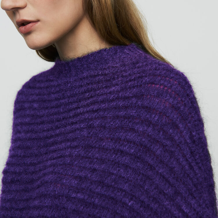 Cropped oversize sweater : Sweaters color Ecru