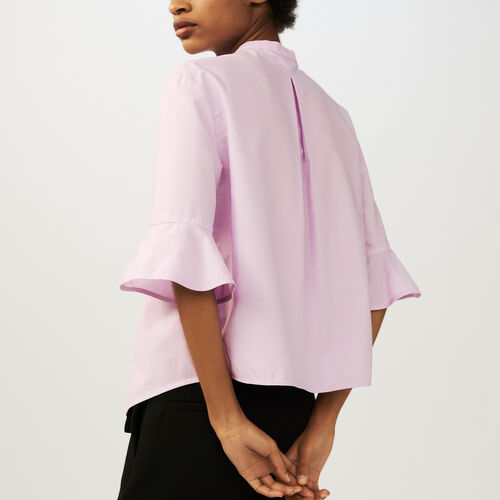 Oversized poplin shirt : Tops & T-Shirts color Pink