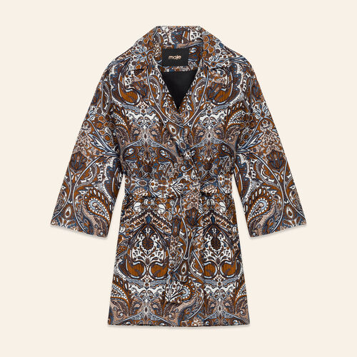 Long jacquard jacket : Coats & Jackets color Jacquard