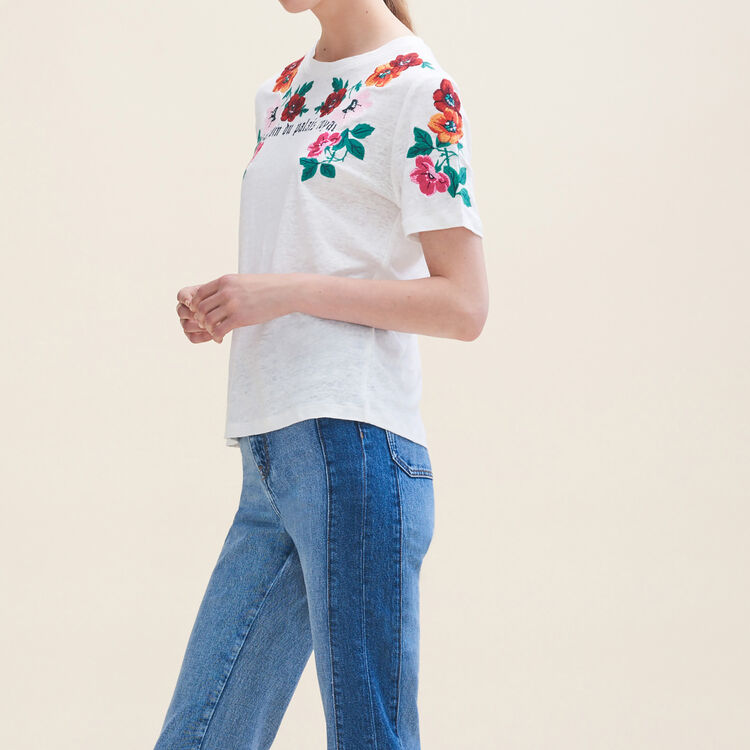 Embroidered T-shirt - Tops & T-Shirts - MAJE