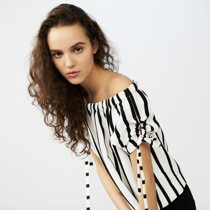 Striped crop top : Tops & T-Shirts color Stripe