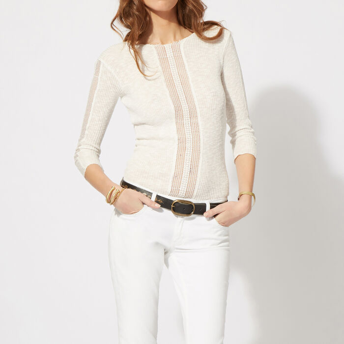 Cotton and lace top : null color
