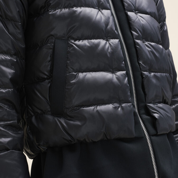 Lightweight down jacket with peplum : Coats & Jackets color Black 210